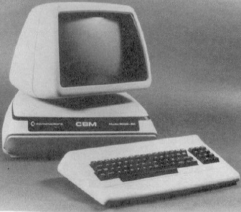 Commodore 710 - black & white picture of machine by itself with keyboard